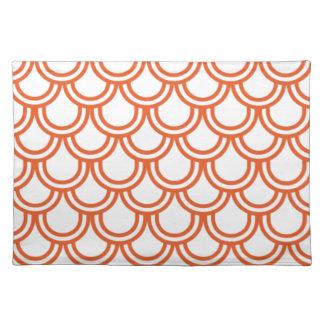 Orange Fish Scales Placemat