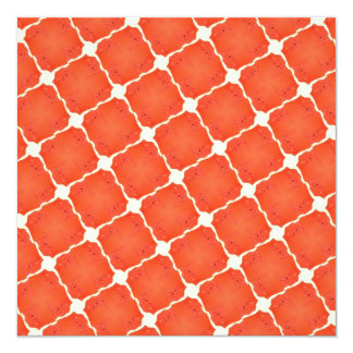 Orange Fishing Net Mosaic Tile Grid Pattern Gifts Personalized Announcements