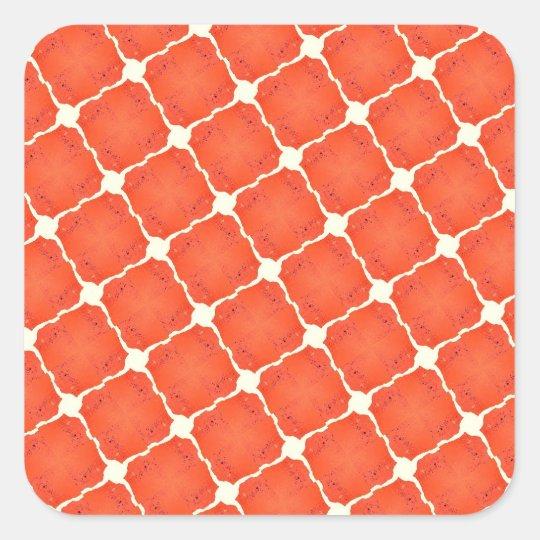 Orange Fishing Net Mosaic Tile Grid Pattern Gifts