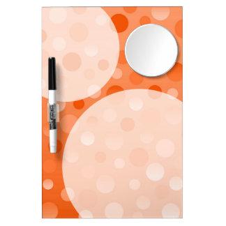 Orange Fizz 'Bubbles' dry erase board w/mirror