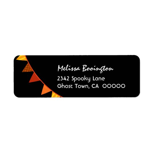 ORANGE FLAGS Halloween Theme H01 Return Address Label