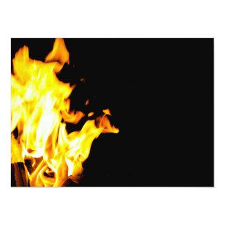 Orange flame 14 cm x 19 cm invitation card