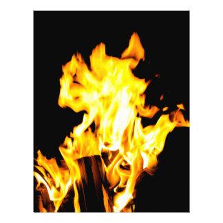 Orange flame 21.5 cm x 28 cm flyer