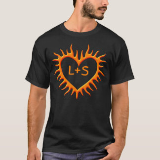 Orange Flame Heart T-Shirt