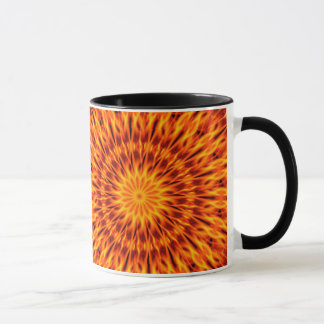 Orange Flames Kaleidoscope Mug