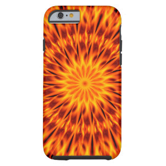 Orange Flames Kaleidoscope Tough iPhone 6 Case