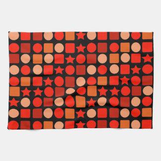 Orange-flavored Geometrics Hand/Kitchen Towel
