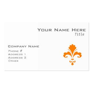 Orange Fleur de lis Double-Sided Standard Business Cards (Pack Of 100)
