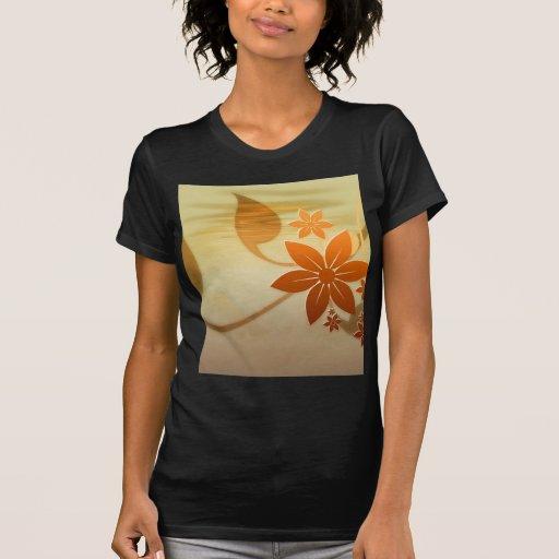 Orange Floral Art and Design Tshirt