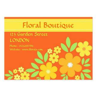 Orange floral - Business card