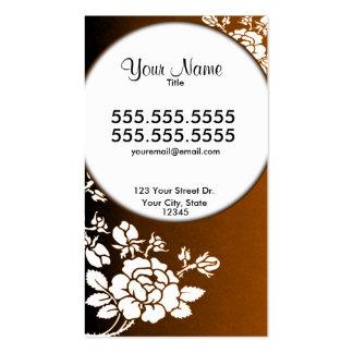 Orange Floral Business Card