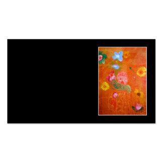 Orange Floral Design. Business Card Templates