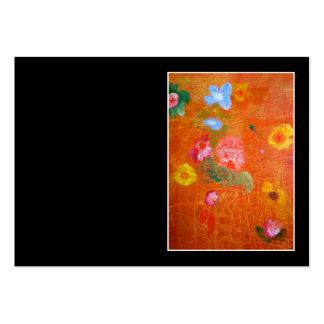 Orange Floral Design. Business Cards