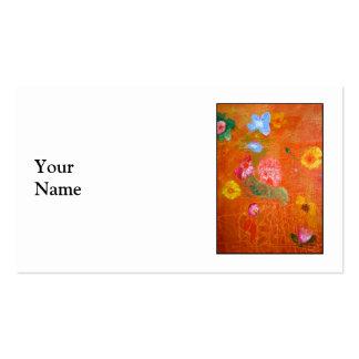 Orange Floral Design. Pack Of Standard Business Cards