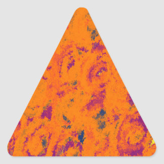 Orange floral design triangle stickers
