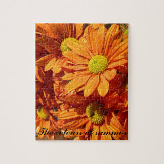 Orange floral jigsaw jigsaw puzzle