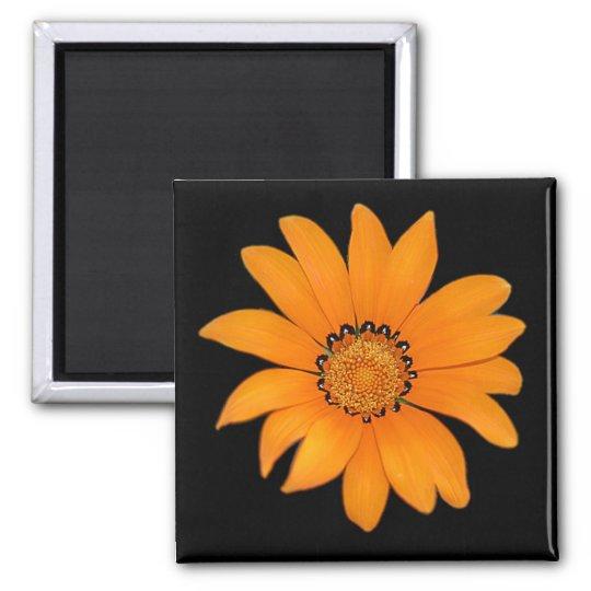 Orange Floral Magnet