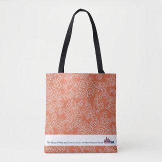 Orange Floral Museum LA Tote Bag