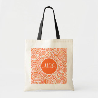 Orange Floral Paisley Pattern Bags