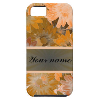 Orange Floral pattern iPhone 5 Cover