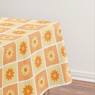 Orange floral Pattern Tablecloth