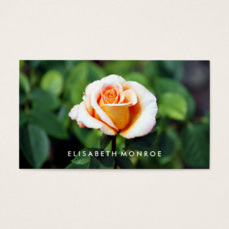 Orange Floral Rose Business Card