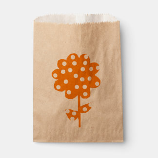 Orange Floral rustic Favour Bags