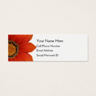 Orange Floral Skinny Profile Card
