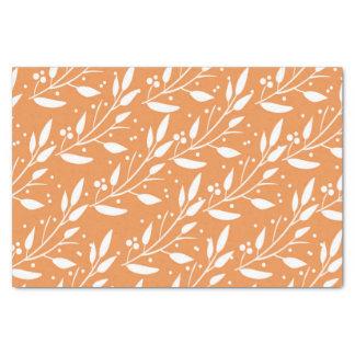 Orange Floral Tissue Paper