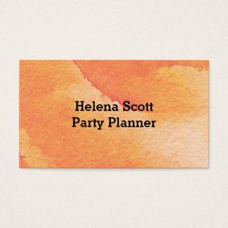 Orange Floral Watercolor Business Card