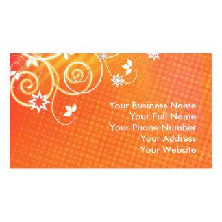 Orange florals business card templates