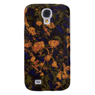 Orange flower against leaf camouflage pattern galaxy s4 case