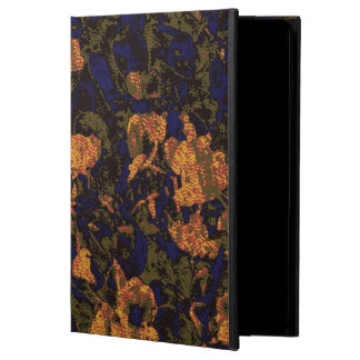 Orange flower against leaf camouflage pattern iPad air case