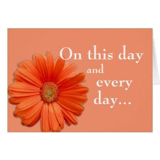 Orange Flower Birthmother Card