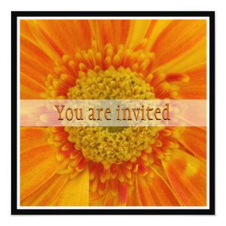 Orange Flower Bridal Shower Invitation