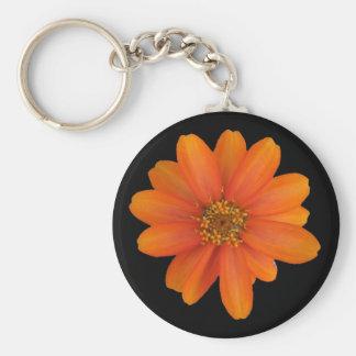 Orange flower design keychains