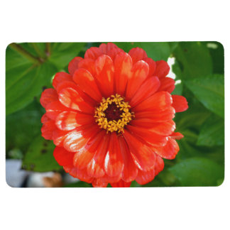 Orange Flower Floor Mat
