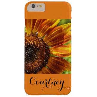 Orange Flower Flowers Botanical Sun Flower Barely There iPhone 6 Plus Case