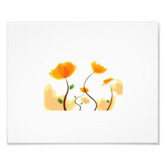 Orange flower graphic eco design.png photo art