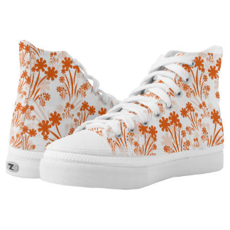 Orange Flower High Tops