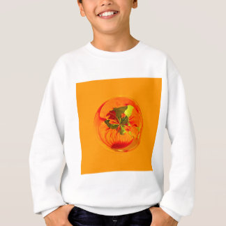 Orange flower in globe sweatshirt