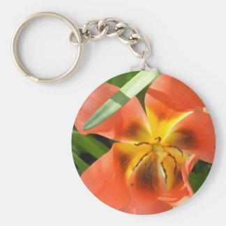 orange flower key ring