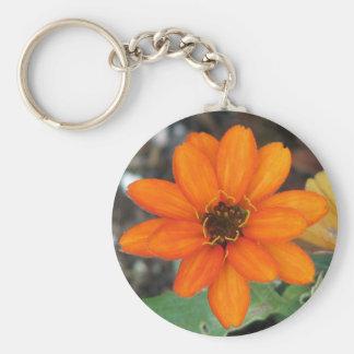 Orange Flower Key Chain