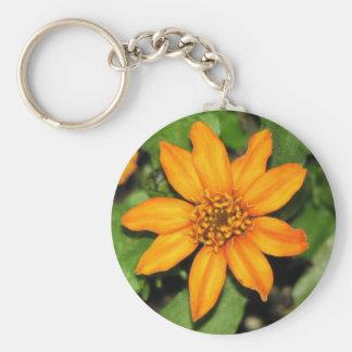 Orange Flower Key Chains