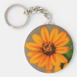 Orange Flower Keychains