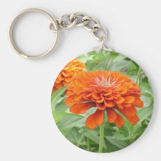 Orange Flower Keychain