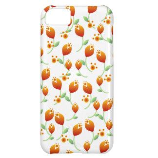Orange Flower Pattern iPhone 5C Case