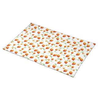 Orange Flower Pattern Placemat