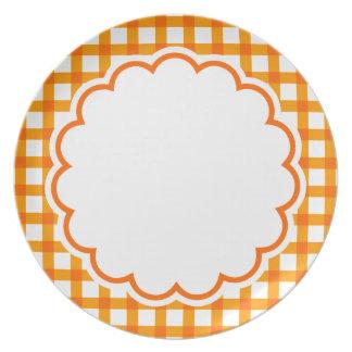 Orange Flower Plate