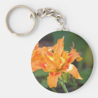 Orange Flower Power Keychain